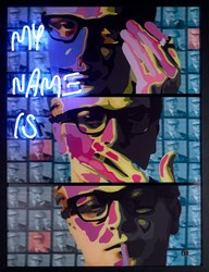 My Name Is.... by Dan Pearce - Original Neon Mixed Media sized 29x39 inches. Available from Whitewall Galleries